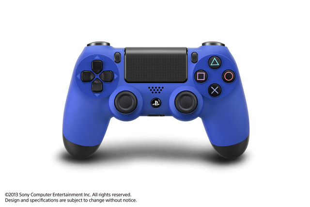 PlayStation 4 DualShock 4 controllers blue