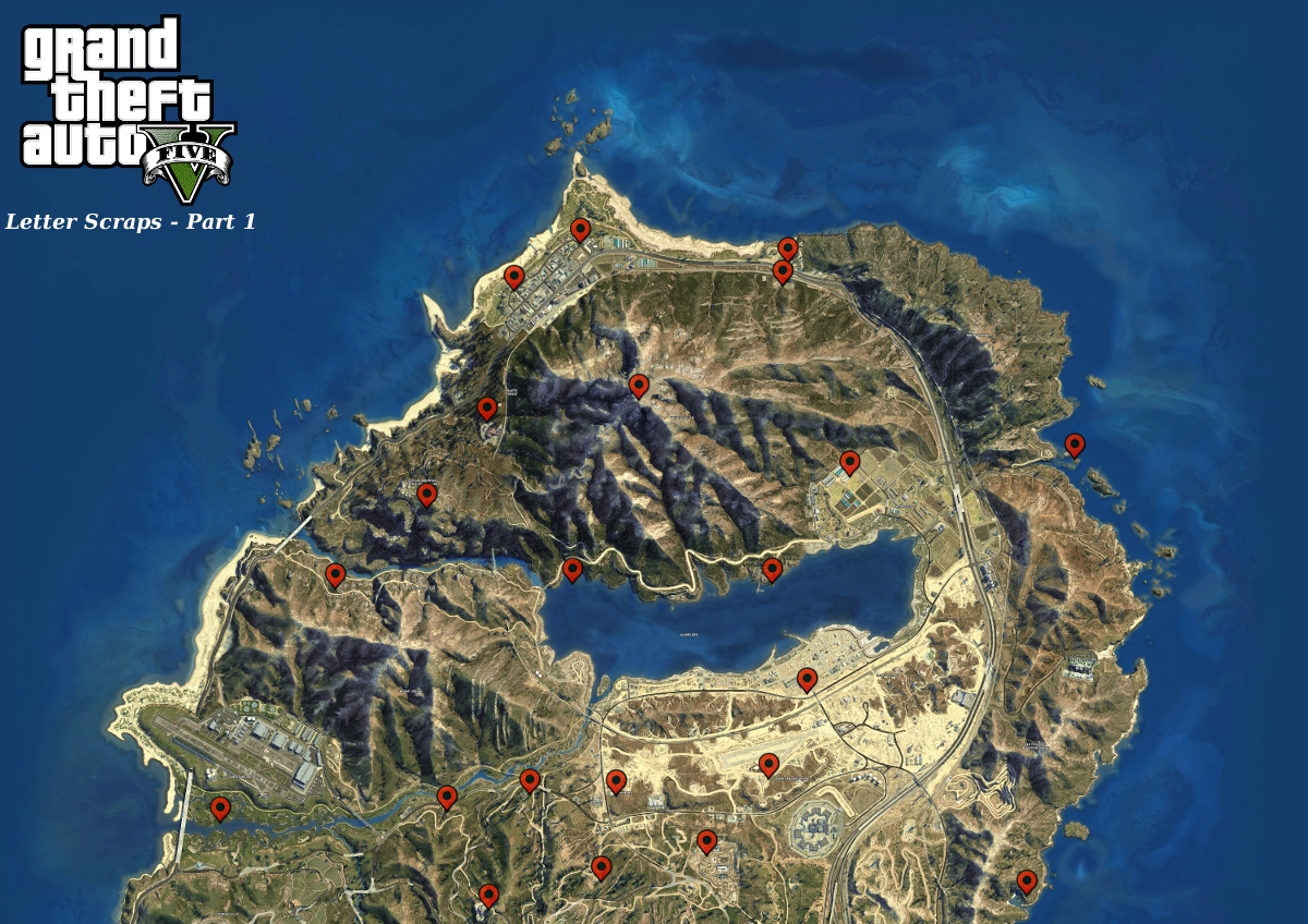 Cave Location Gta v Gta 5 Letter Scraps Locations