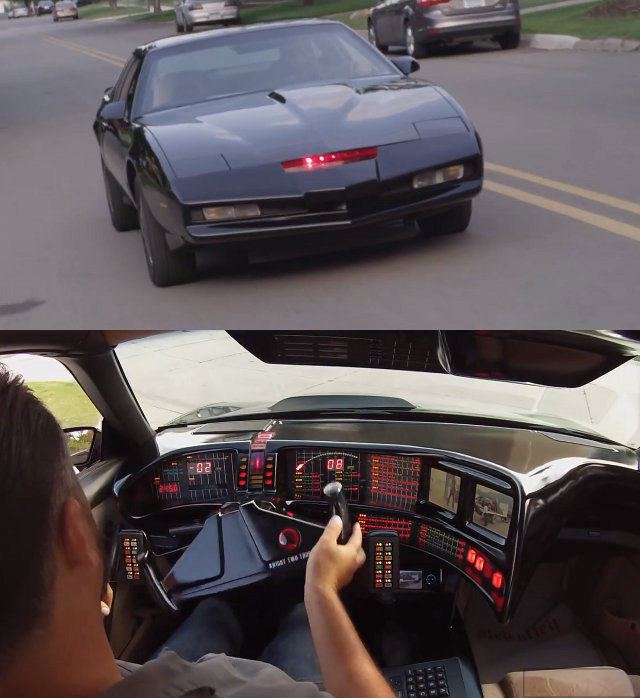 This is a video of the Knight Rider KITT replica that Chris Palmer built out of a 1991 Pontiac Trans Am (the original KITT was an '82).