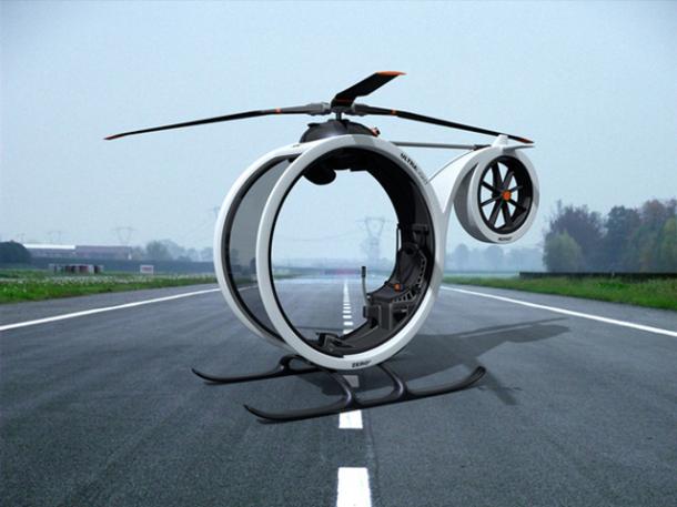 Conceptual-Design-–-ZERO-Personal-Helicopter-3-610x457