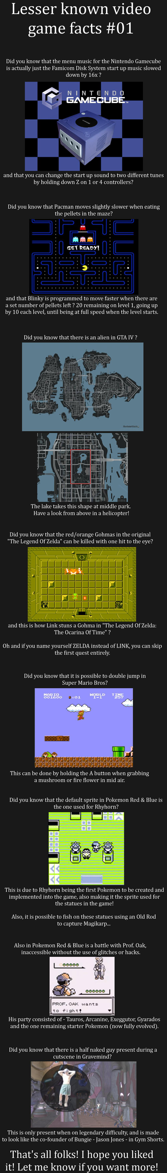 Handful of Obscure Video Game Facts To Test Your Knowledge