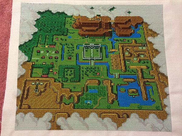 Amazing Legend Of Zelda Cross Stitch Map