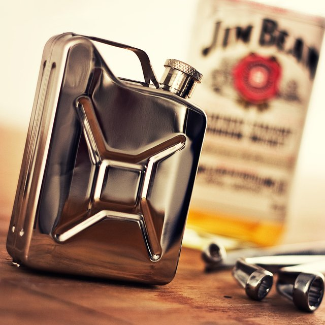 Jerry Can Stainless Steel Hip Flask