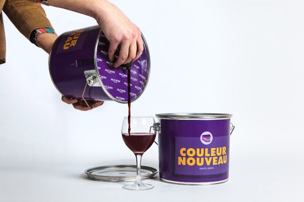 Wine in a Paint Bucket