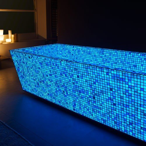 Blue Photo Luminescent Mosaic Tiles
