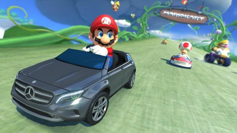 Drive a Mercedes in Mario Kart 8