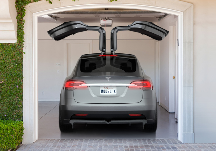 The Tesla Model X SUV Is With Gull-Wing Doors
