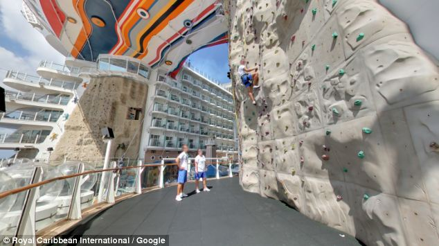 Board The World's Largest Cruise Ship With Google Street View (3)