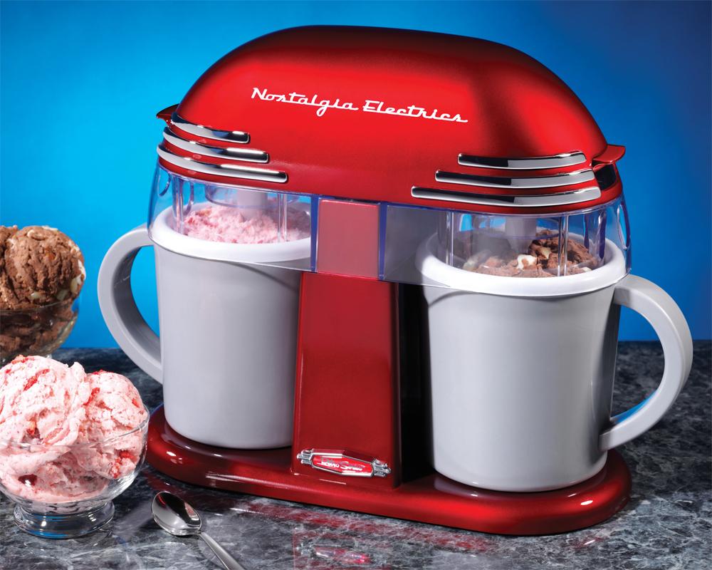 Nostalgia Electrics '50s-Style Double Ice Cream Maker