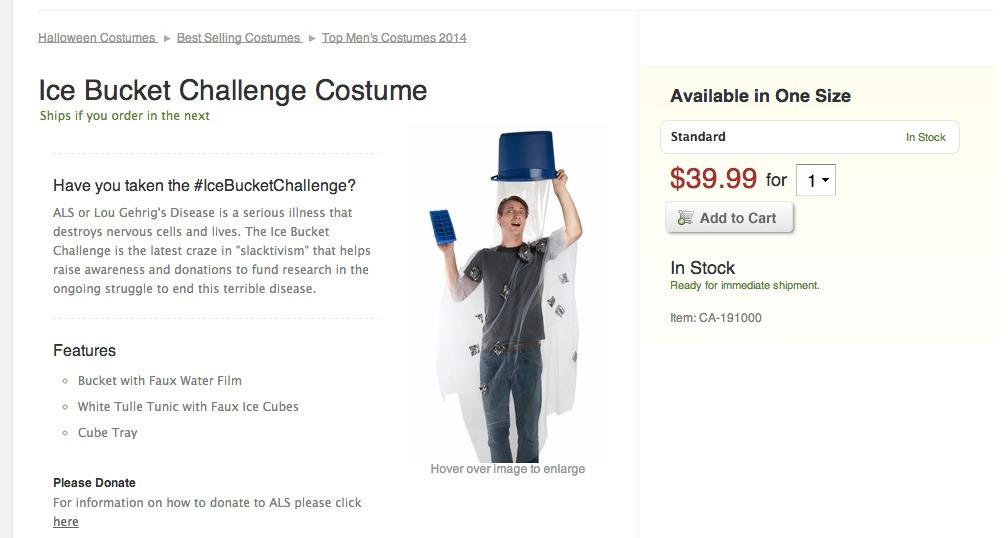 IceBucketChallenge Halloween Costume