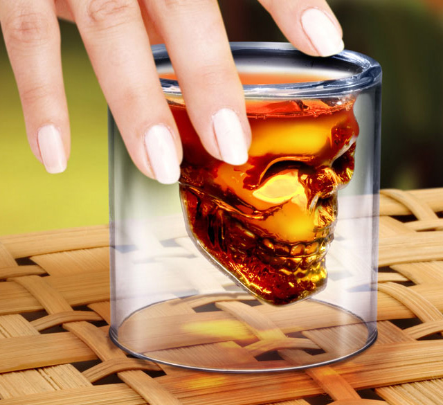 Doomed Crystal Skull Shot Glass (1)