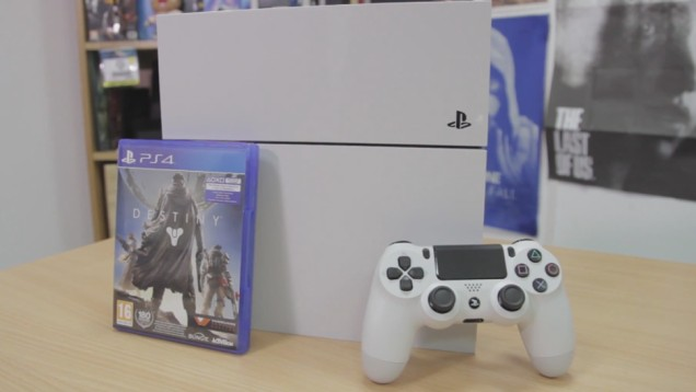 White PlayStation 4