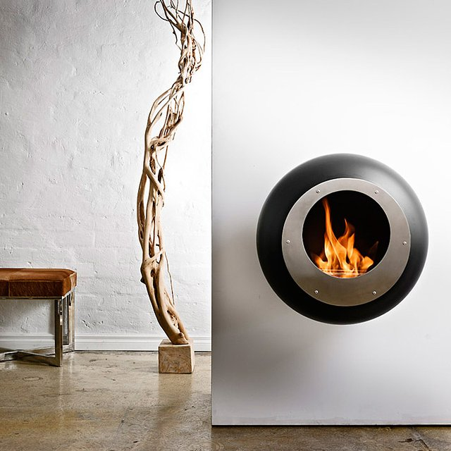 Vellum Wall-Mounted Fireplace by Cocoon Fires