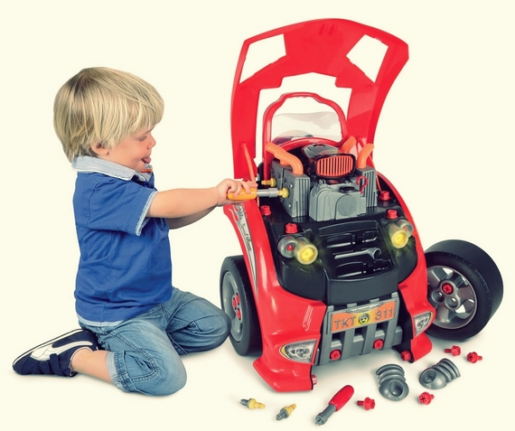 Car Engine Repair Playset For Little Mechanics