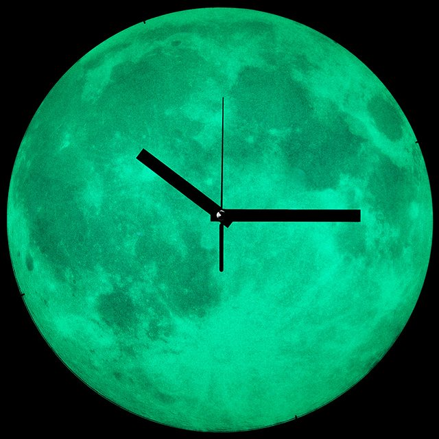 Mesmerizing Moon Clock