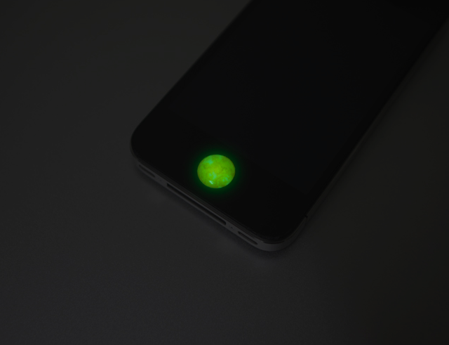 Glowing Moon Home Button Sticker
