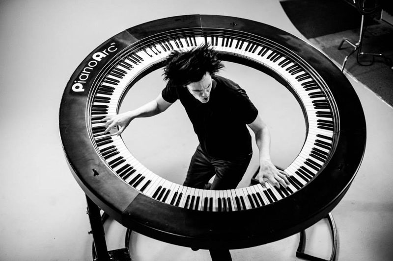Lady Gaga's Keyboard Player Built Insane 360 Keyboard
