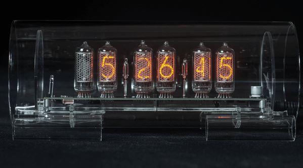 Large Glass Nixie Clock