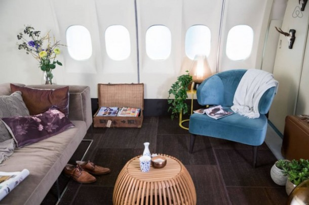 Grounded Airplane Turned Into An Apartment In Amsterdam