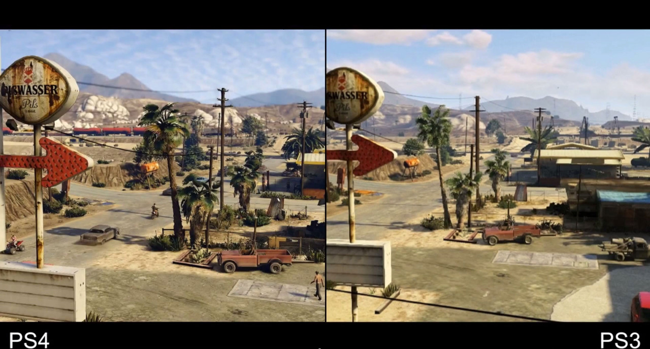 This Much Better Grand Theft Auto V looks on PS4