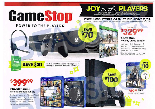 GameStop's Black Friday Deals Have Leaked