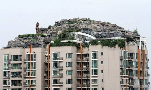 Chinese Private Mountain Lair On Top Of Apartment Building