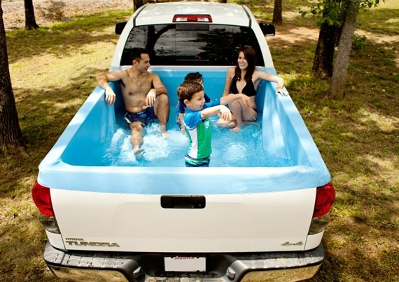 Turn Your Truck Bed Into A Mobile Bath Tub