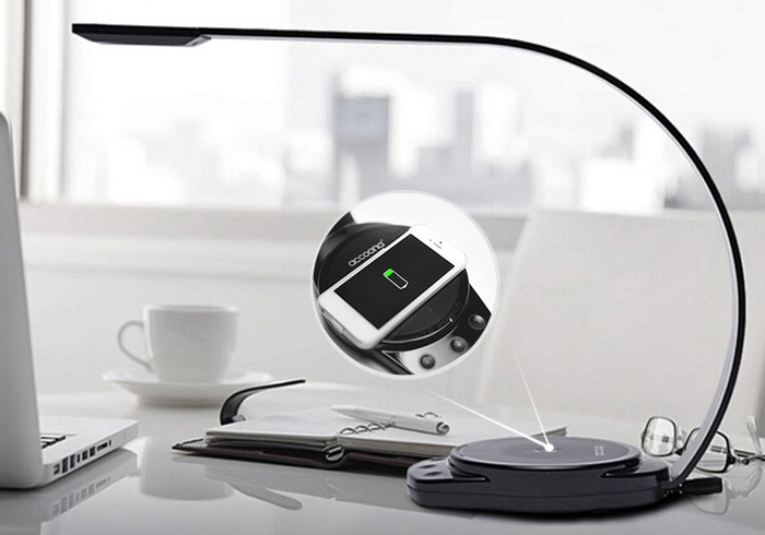 Accoona Wireless Smartphone Charging LED Lamp