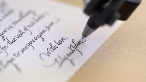 Now A Robot Can Write Letters In Your Hand Writting