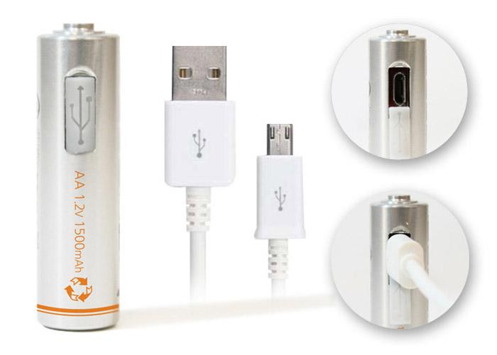 Lightors Batteries Recharge 500 Times Faster Via USB