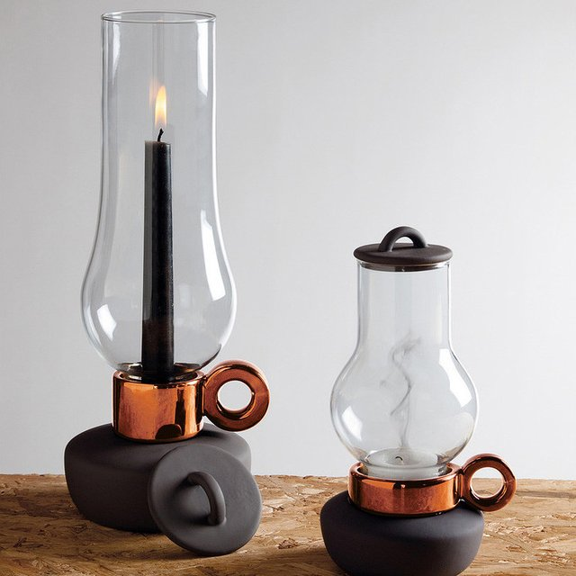 Bugia and Lanterna Candle Holders by Seletti