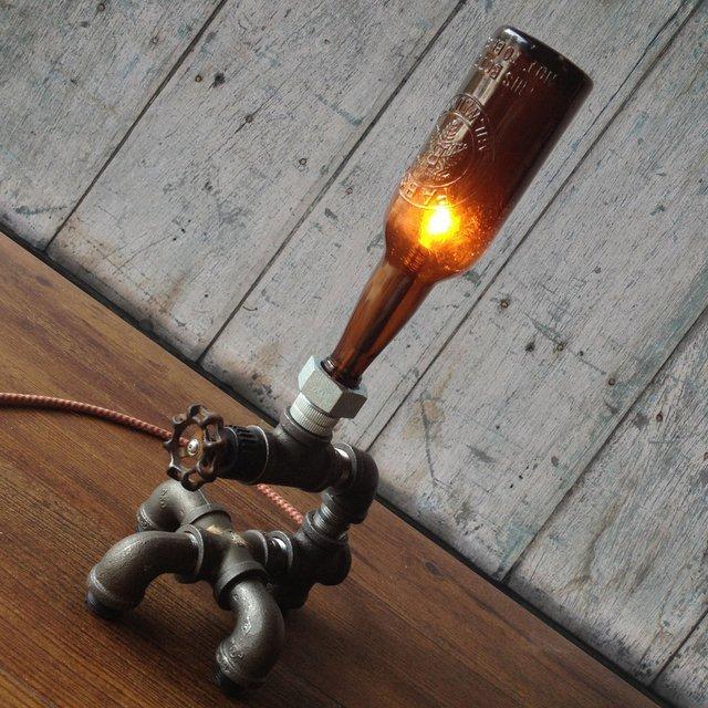 Vintage Beer Bottle Lamp