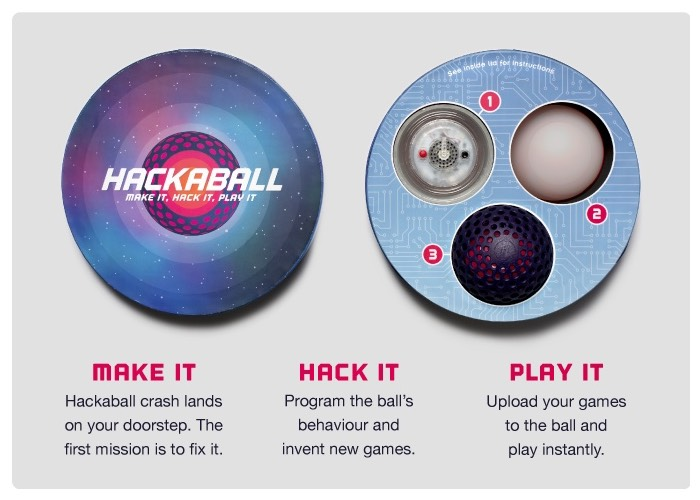 Hackaball is the Programmable Throwable Computer Ball