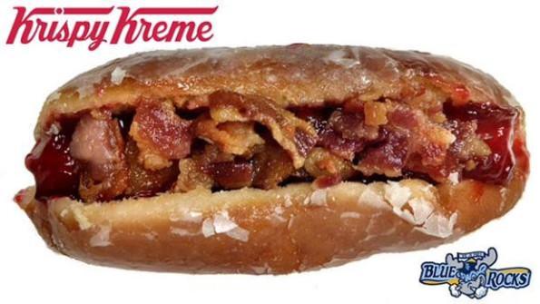 Krispy Kreme Bacon Hot Dog Donut