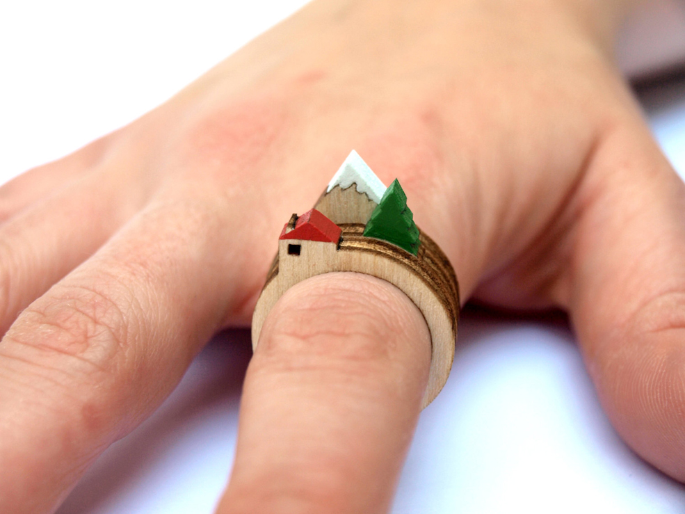 Mini Landscapes On Your Fingers With Stackable Rings