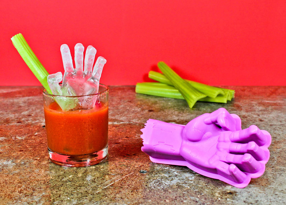The Zombie Hand Ice Mold