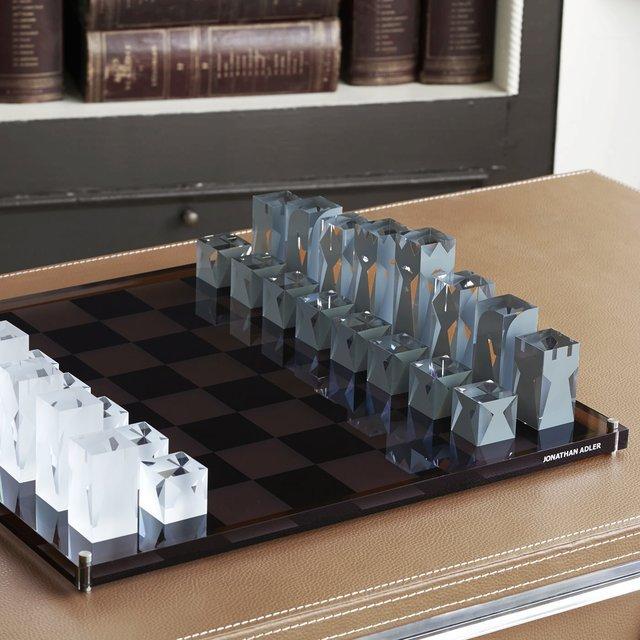 Acrylic Chess Set by Jonathan Adler