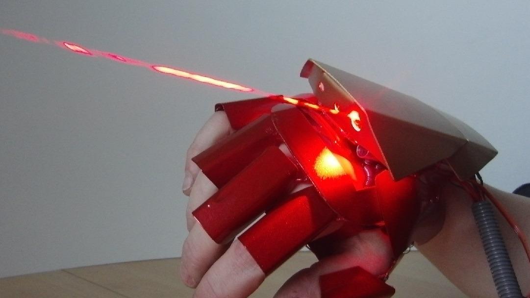 Laser-enabled Iron Man glove