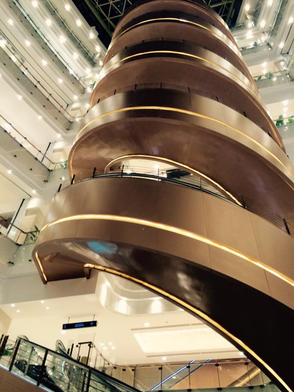World's Longest Spiral Escalator