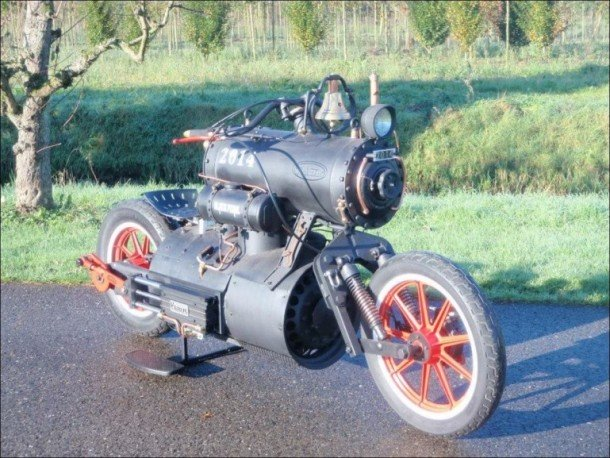 Eccentric Steam Powered Motorbike