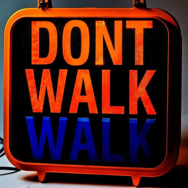 New York Don't Walk Lamp