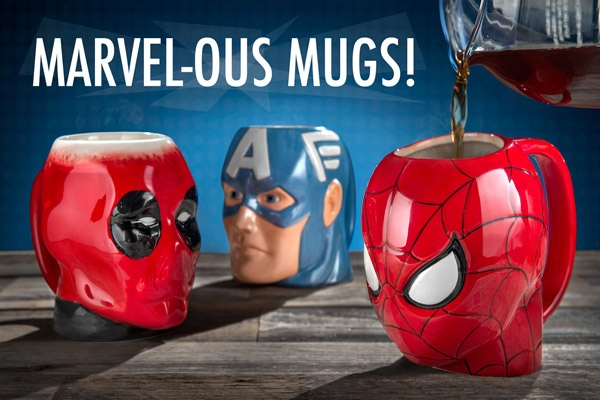 Marvel Comics Molded Mugs