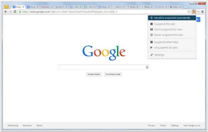 Chrome Extension Puts Tabs To Sleep