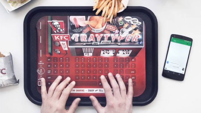 KFC Turns Food Trays Into Bluetooth Keyboards