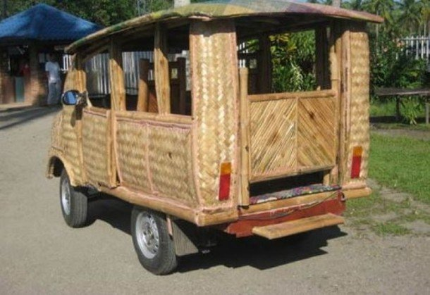 Philipino Taxis Are Made Of Bamboo And Running on Coconut Diesel