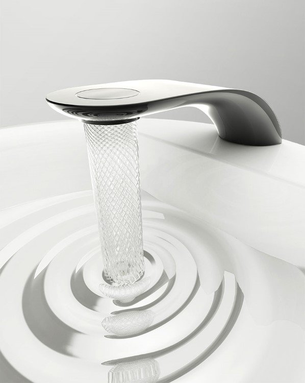 Spiraling Faucet Makes Brilliant Designs And Save Water