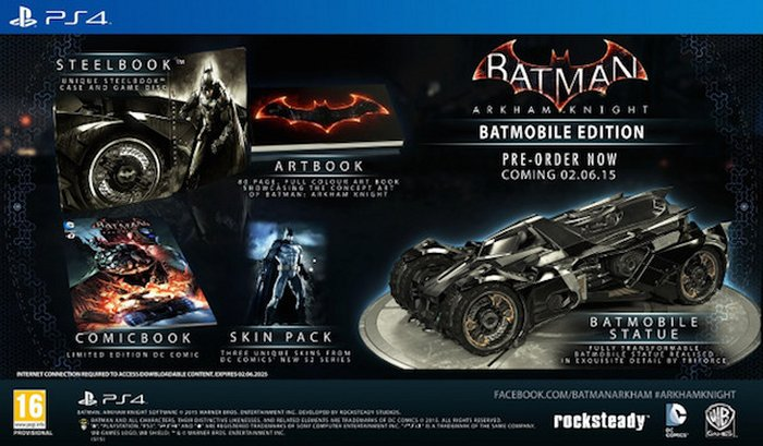 Batman Arkham Knight Batmobile Edition