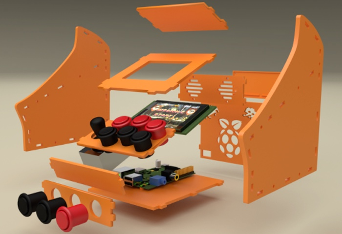 Incredible Raspberry Pi Nano 3D Printed Arcade Cabinet