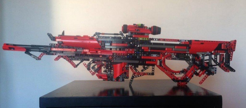 Fully Working Gun Out Of Lego (2)