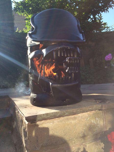 Backyard From Hell: ALIEN Xenomorph-Themed Wood Burner